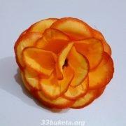 Цветочная головка Роза круг Ø10см.