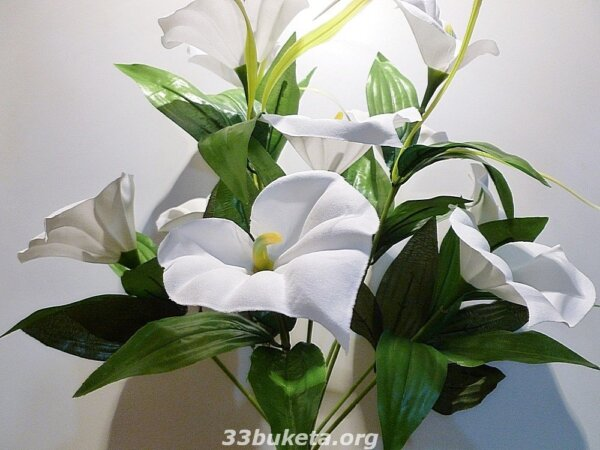 Калла белая конструктор 10 цветков