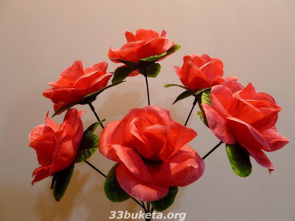Роза 6 цветков