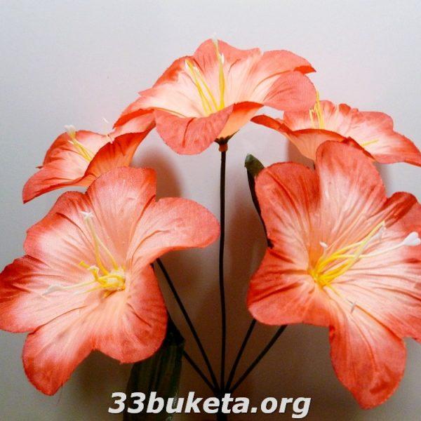 Колокольчик 5 цветков маленький букет