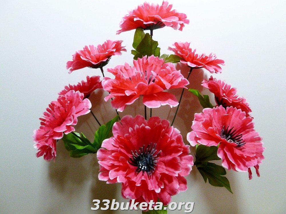 Василек цветной 9 цветков средний букет