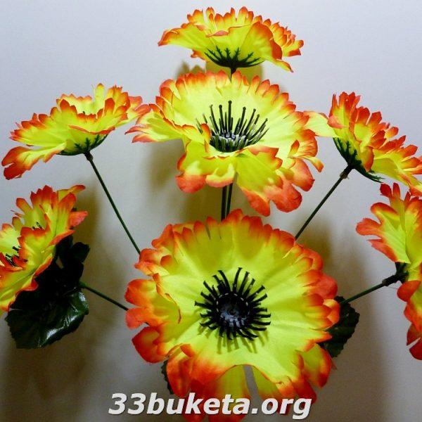 Василек цветной 7 цветков маленький букет