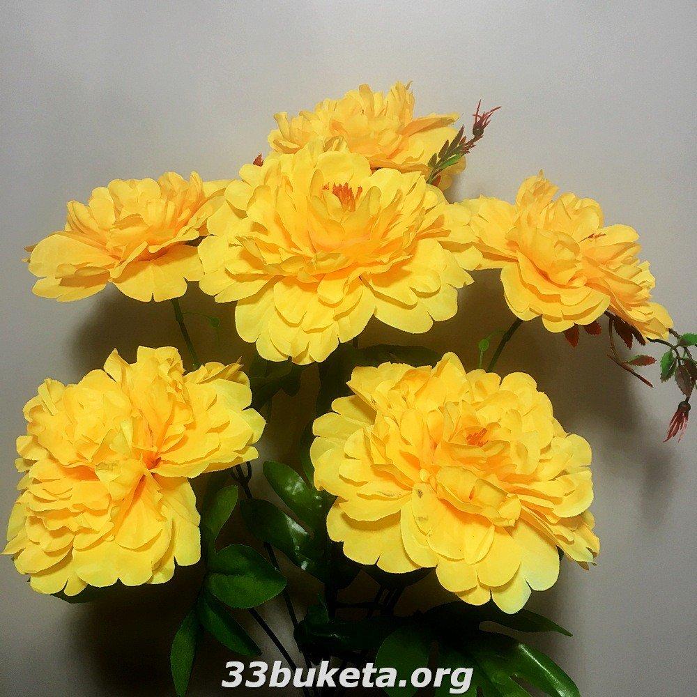 Как сделать искусственные цветы с фото