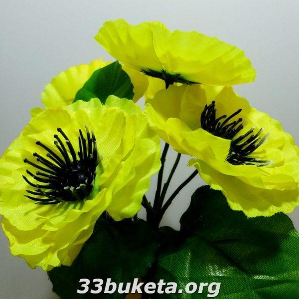 Мак бордюрный цветок заливка