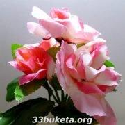 Роза с бутоном бордюрный цветок заливка