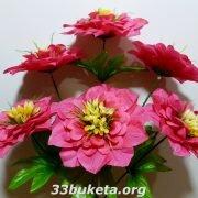 Мальва 6 цветков средний букет