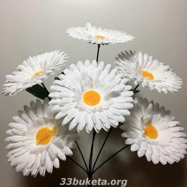 Ромашка на 6 цветков средний букет