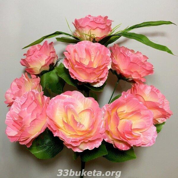 Роза букет на 9 голов средний букет