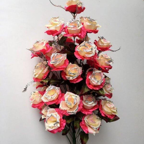 Роза куст с серебром