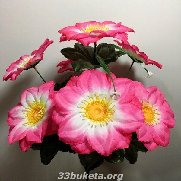 Мальва на 7 цветков средний букет