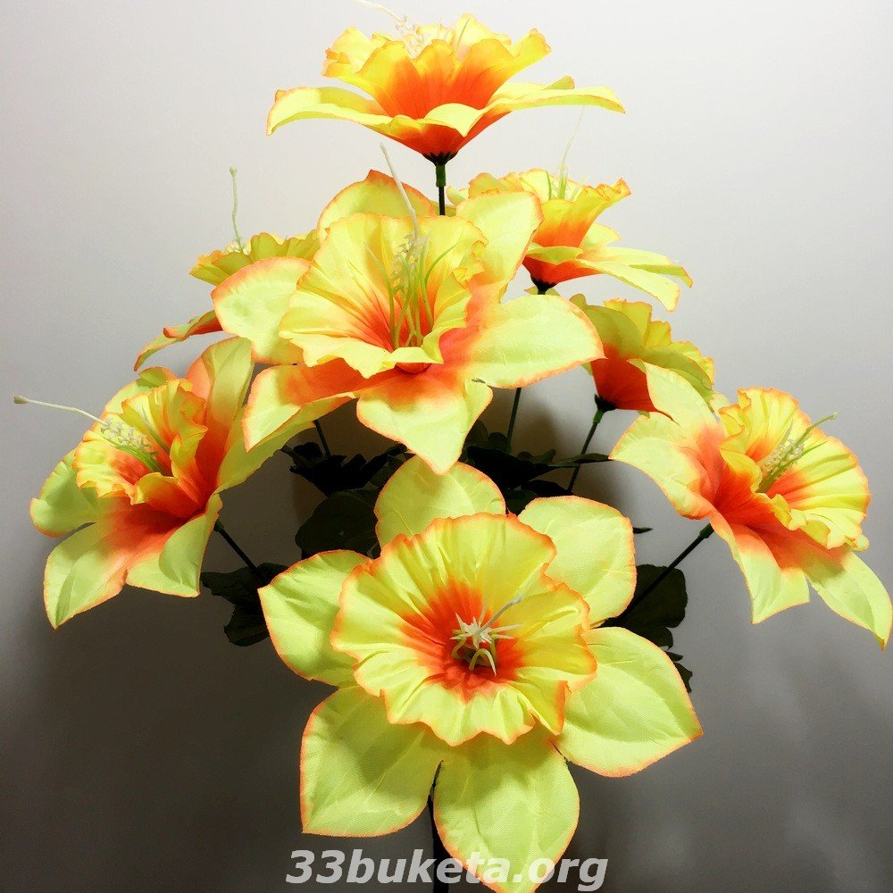 Нарцисс на 9 цветков средний букет