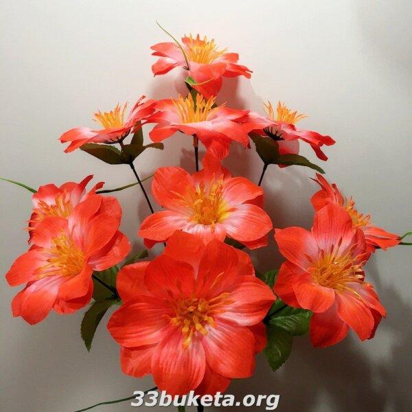 Мальва 9 цветков
