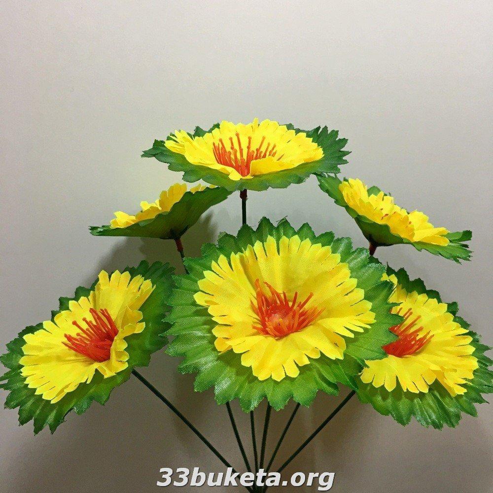 Мальва с листиком подст. 6цветков