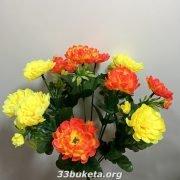Хризантема 2-х цветная