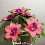 Мальва+лист подклад 6 цветков