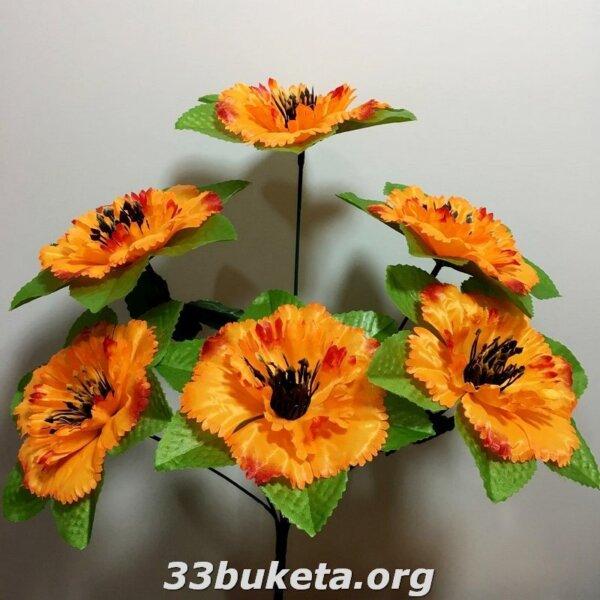Василек не прессованный 6 цветков