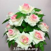Букет роз не прессованный