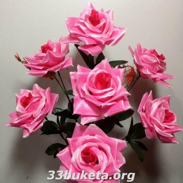 Роза атлас 7 голов